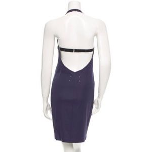 • Maison Margiela • Halter Cut Out Dress Navy Blue
